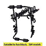 LJIANW Portabicicletas para Coche 3 Bicicletas Portador Trasero Montaje De Enganche Esponja Antideslizante Plegable Portabicicletas para Viajar, 5 Estilos (Color : C-66X42X52CM)