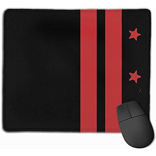 Rubberen antislip onderlaag, muismat, muismat, rode vlag met strepen en sterren 30 x 25 cm, muismat voor computermuis, handboek