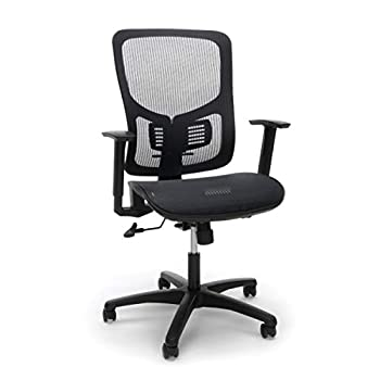 OFM Essentials Collection Mesh Seat Ergonomic Office Chair with Lumbar Support in Black