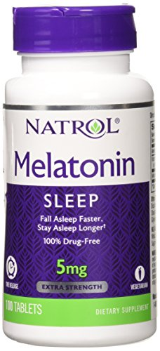 Natrol 5mg Time Release Melatonin Tablets