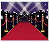 Red Carpet Insta-Mural Party Accessory (1 count) (1/Pkg)