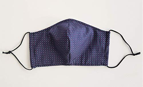 Mund- und Nasenschutz, Mundschutz, Schutzmaske aus Stoff dunkelblau, Spezialgummi Länge anpassbar, sofort lieferbar aus DE