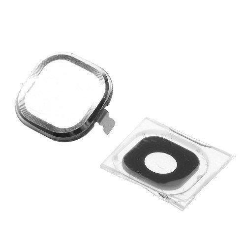 jbTec Kamera Scheibe mit Rahmen Silber passend für Samsung Galaxy Note 3 Neo/LTE - Glas Rückseite Linse Camera Ersatz