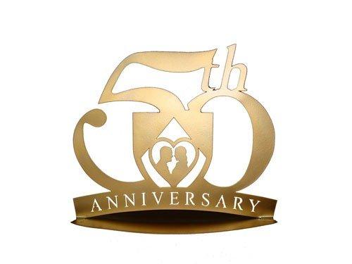 DISOK - Figura Pastel MetáLica 50 Aniversario