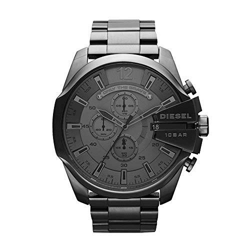 Diesel Herren Chronograph Quarz Uhr mit Edelstahl Armband DZ4282
