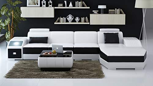 Its-Me - Moderno sofá de esquina de alta calidad fabricado en piel italiana