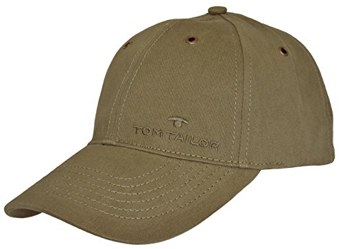 Tom Tailor Herren Basecap Mütze 6-Panel-Cap Base Cap Kappe uni one size (Olive (570))