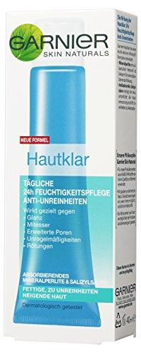 Garnier Hautklar 24h Feuchtigkeitspflege Gesicht Anti-Unreinheiten, 1er Pack (1 x 40 ml)