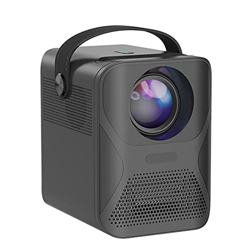 CEXTT LED Mini Proyector P56 1080P Full HD Portátil Portátil Portátil Video Proyector 4K Soporte Juego móvil WiFi (Color : Black)