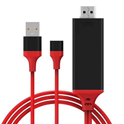 AISOO Cavo da Cellulare a TV HDMI per iPhone Samsung, 1080P Cavo Digitale USB2.0 a Televisione per Schermo/Monitor/Proiettore senza Indugio Universale compatibile con Telefono iOS&Android Xiaomi