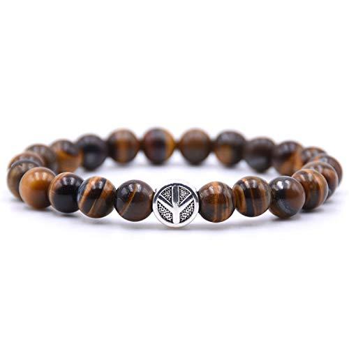 Pulsera Brazalete, Joyeria Regalo, Peace Sign Bracelet Classic Natural Stone 18 Styles Bead Bracelets For Men Women Best Friend Charm Gift New 4