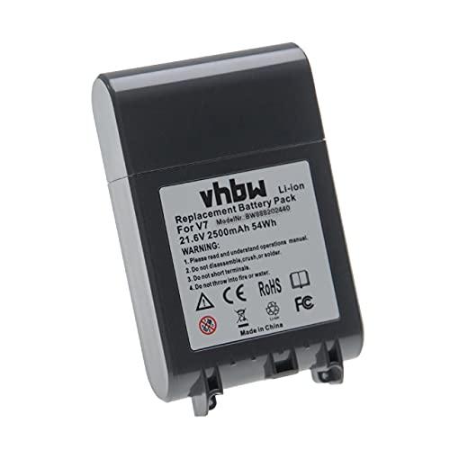 vhbw Batería recargable compatible con Dyson V7 Total Clean, V7 Trigger aspiradora, robot limpieza (2500 mAh, 21,6 V, Li-Ion)