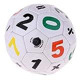 Baoblaze Mini Balón de Fútbol para Niños 3-6 años Unisex, Compacto y Ligero - Blanco