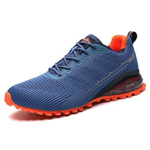 Dannto Sportschuhe Herren Laufschuhe Turnschuhe Straßenlaufschuhe Atmungsaktiv Gym Sneakers(blau,44)