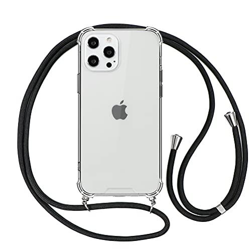 ZhuoFan Funda con Cuerda para iPhone 6 Plus / 6s Plus [5.5'] Claro Carcasa PC + Silicona Cover con Colgante Cordon Colgar Correa de Cuello Largo 160cm Anti-rasguños Bumper Case