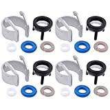 XtremeAmazing Pack of 4 Engine Fuel Injector Seal Repair Kit for A3 A4 A5 Q3 TT Quattro