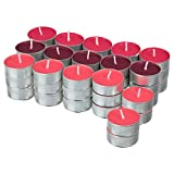 Ikea VINTERFEST Duftkerzen Lebkuchenkuchen rot Teelichter – 60 Stück