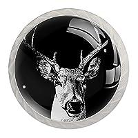 引き出しハンドルは装飾的なキャビネットのノブを引っ張る ドレッサー引き出しハンドル4個,アート鹿のパターン