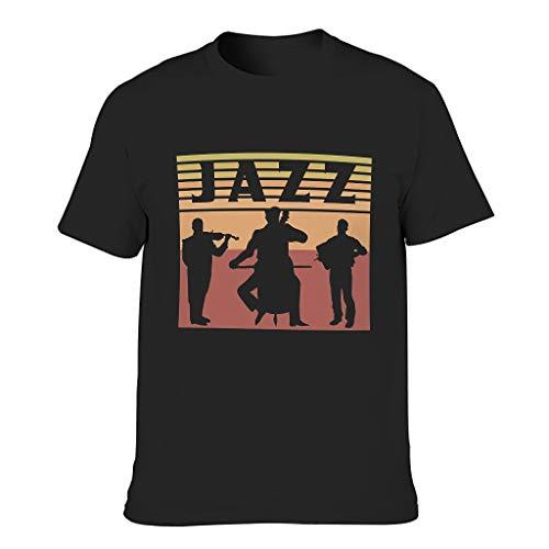 FFanClassic Camiseta de algodón para hombre Jazz Novedad Divertida Duradera - Camisa estampada