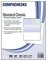 500 Blank Check Stock - Check on Top - Blue/Green Prismatic [並行輸入品]