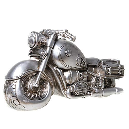 UDO Schmidt 89239 Spardose Motorrad Bike Antik Silber Sparschwein Shopper
