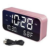 デジタル目覚まし時計、オプションの目覚まし時計付きベッドサイド充電式目覚まし時計明るさ調光器、使いやすい調整可能な目覚まし時計