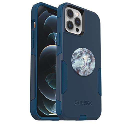 Bundle: OtterBox Commuter Series Case for iPhone 12 Pro Max - (Bespoke Way) + PopSockets PopGrip - (Blue Marble)