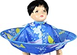 AIYANG Mantellina a Forma di Ombrello per Taglio di Capelli, per Parrucchiere, Barbiere e Acconciature, Capelli Tagliati per Bambini (Blue Dolphin)