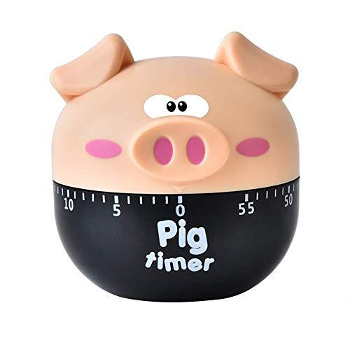 JoyRolly Niedliche Karikatur Schwein geformte Küche Kochen Timer Countdown Maschinen Zifferblatt Wecker Pink Khaki
