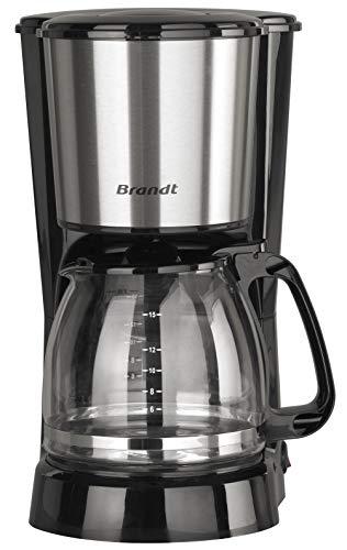 Brandt CAF815X Cafetière filtre, 800 W, 1.5 liters, INOX