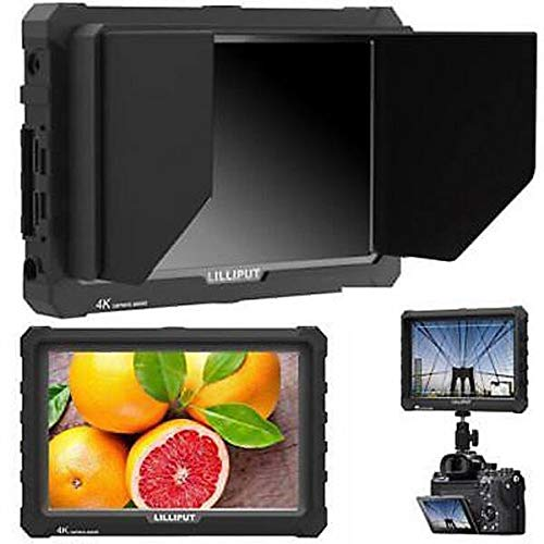 """LILLIPUT A7S 7"""" 1920x1200 IPS Screen Camera Field Monitor 4K HDMI Input Output Video for DSLR Mirrorless Camera Sony A7S II A6500 Panasonic GH5 Canon 5D Mark IV DJI Ronin M Black case Exclusively"""
