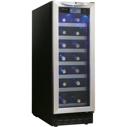 Danby DWC276BLS 27-Bottle Silhouette Wine Cellar - Black/Stainless