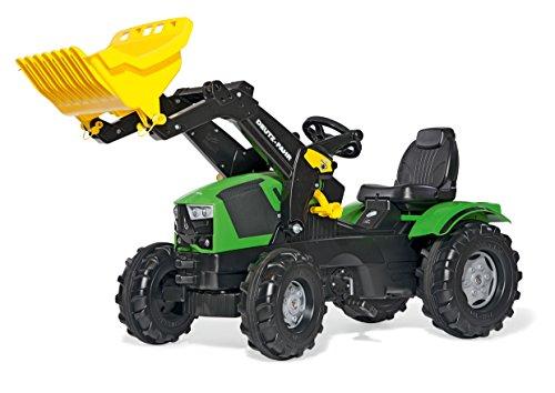 Rolly Toys rollyFarmtrac Trettraktor Deutz-Fahr 5120 (mit rollyTrac Lader, für Kinder von 3-8 Jahre, Sitz verstellbar, Flüsterlaufreifen) 611201