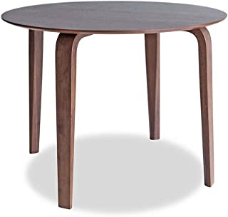 Edloe Finch Mid-Century Modern Round Dining Table Kitchen, Walnut