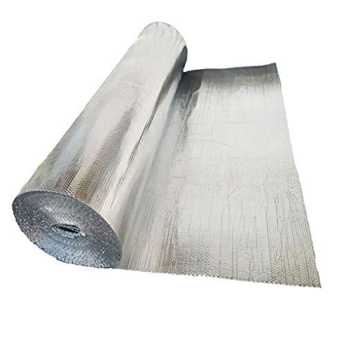 Selbstklebend Folie Isolationsrolle Doppel Aluminium-Blase Dämmung Isolierung Vorzelthimmel Isoliertapete Hitze isoliert Dampfsperre und wasserdichte Vorzeltes Sonnenschutz Wand Isolierung(Size:1x25m)