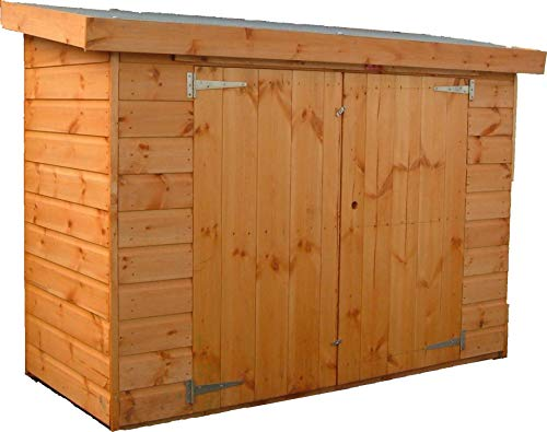 Pinelap 6ft x 3ft Wooden Shiplap Garden Shed Fully T&G Pent Outdoor Hut
