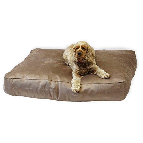 ECO – Panier en suédine. pour chien luxe Palette, Chocolat pour animal domestique den 17,8 cm de profondeur