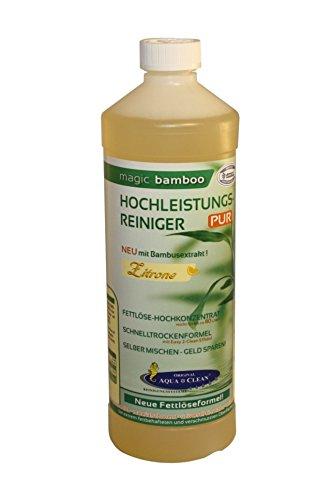AQUA CLEAN Magic Bamboo Hochleistungsreiniger 1l Hochkonzentrat (Zitrone)