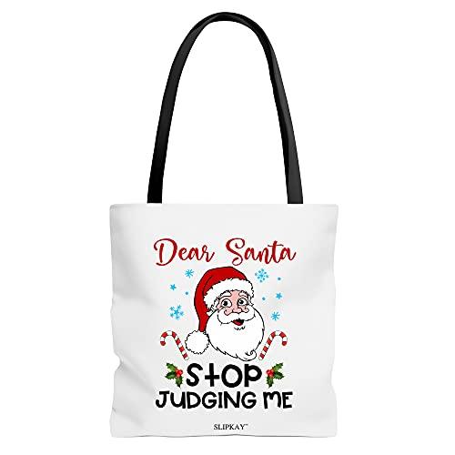 Dear Santa Stop Judging Me Toe Bag
