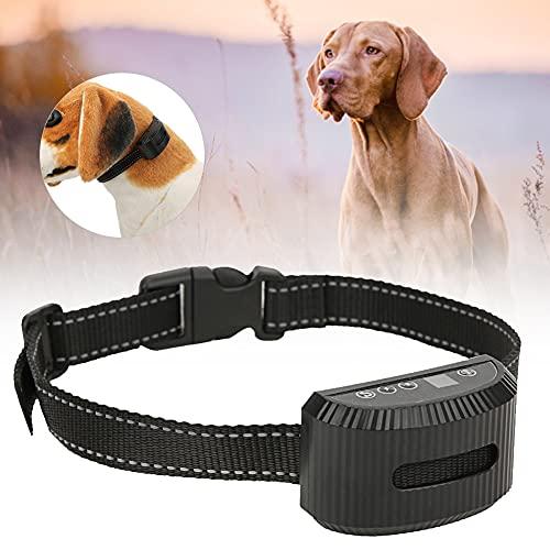 Cuello De Control De Voz De Perros, Entrenamiento Recargable De Perro De Mascotas Cuello De Control De Voz Ajustable con Tira Reflectante Batería Incorporada