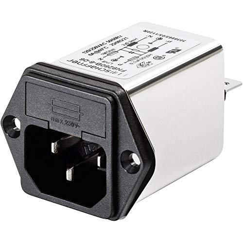 SCHAFFNER FN 9260-4-06 Netzfilter mit Kaltgerätebuchse, mit Sicherung 250 V/AC 4 A 1 mH (B x H) 46 mm x 32 mm 1 St.