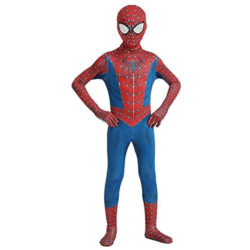 Deguisement Spiderman Enfant,Costume Spiderman Enfant,Déguisement Spiderman 3-12 Ans Homecoming,Costume Spiderman Delux Cosplay Masque Halloween Carnaval Adultes Garcon,Superheros Cosplay Costume