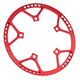 Corona per Bicicletta in Alluminio di qualità per Guida a Lunga Distanza - 56T Rosso...