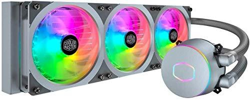 Cooler Master MasterLiquid ML360P Silver Edition Liquid Cooler, All-In-One (AIO) Raffreddamento a Liquido, Radiatore da 360mm, 1 x 360mm PWM SF360R ARGB Fan, Design del profilo della ventola ingtegrat