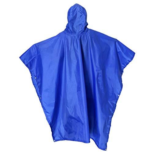 Poncho de lluvia Impermeable portátil multifuncional 3 en 1 con tapete para acampar con capucha