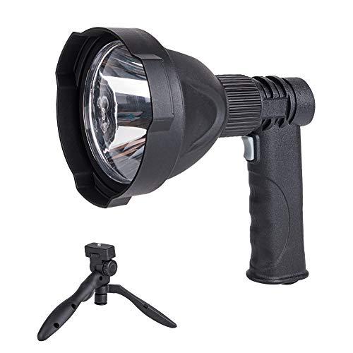 Nrpfell 300M Linterna LED Recargable de Alta Potencia Al Aire Libre Que Acampa Caza LáMpara de Mano Proyector PortáTil Foco Reflector Linterna Reflector