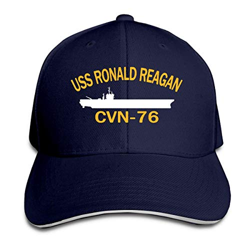 KINKPH USS Ronald Reagan CVN-76 Adjustable Sandwich Cap Baseball Cap Casquette Hat