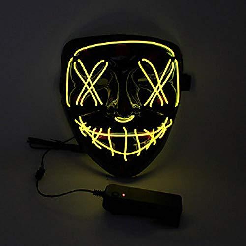 Ainsleyer Halloween Masker Volwassenen; Halloween Feest/Feestdagen voor heren PVC(PolyVinyl Chloride) Wit/Oranje/Geel Dames Carnaval Kostuums voor heren