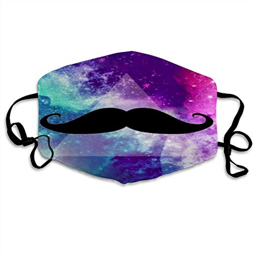 MOSDELU Reusable Face Cover,Mouth Cover Galaxy Mustache Mascarillas Adjustable Face Scrafs for Adults