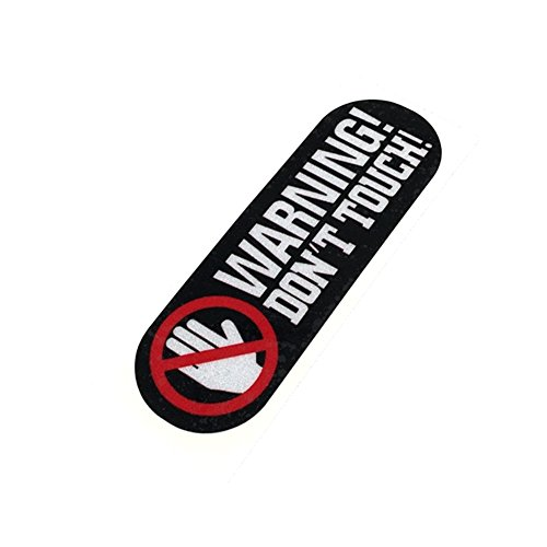 2PCS Warning DO NOT Touch Car Stickers Auto Window Motorcycle Helmet Vinyl Decals for Astronaut 8x2.6cm